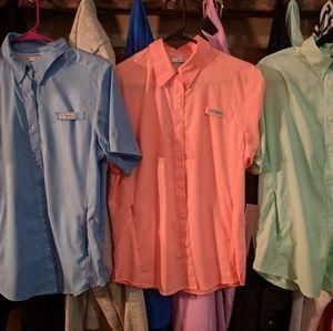 Womens Columbia pfg short sleeve shirts